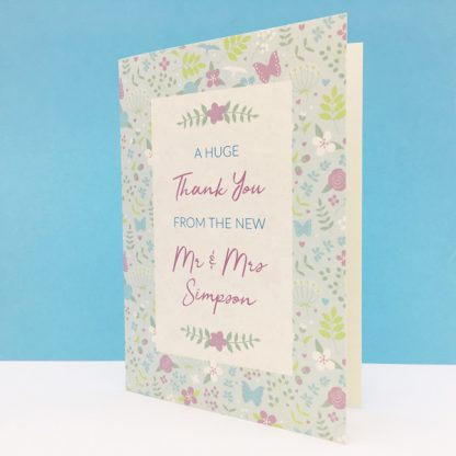 merry meadow wedding thank you card