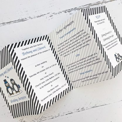 penguin concertina invitations