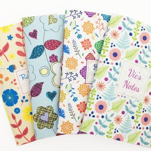 personalised floral notebook designs