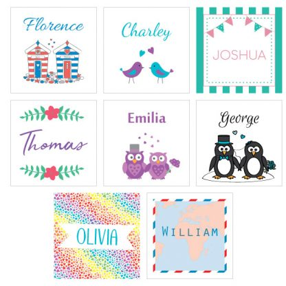 wedding reception activity pack tags