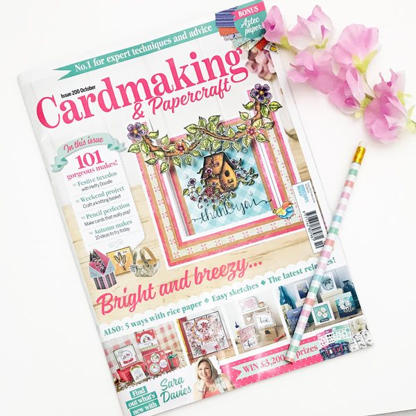 cardmaking and papercraft magazine october 19