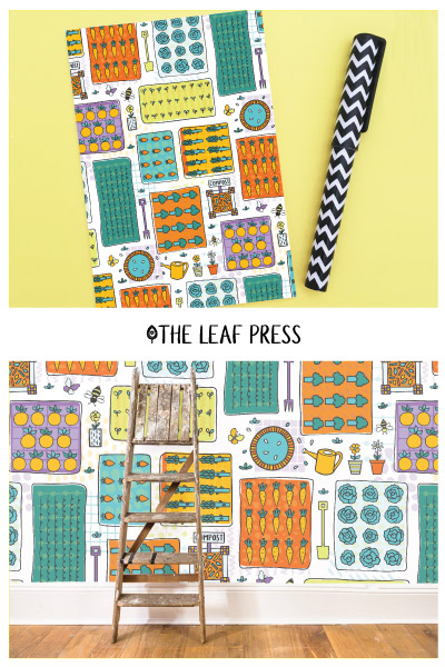allotment themed surface pattern design