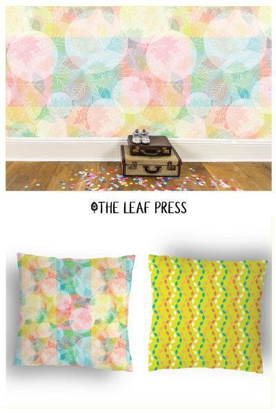 leaf design repeat pattern