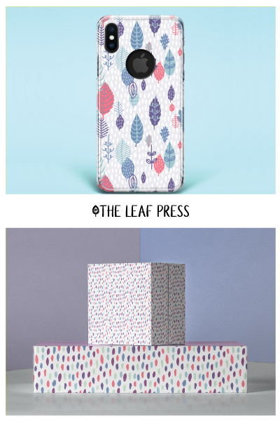 leaf themed surface pattern designs