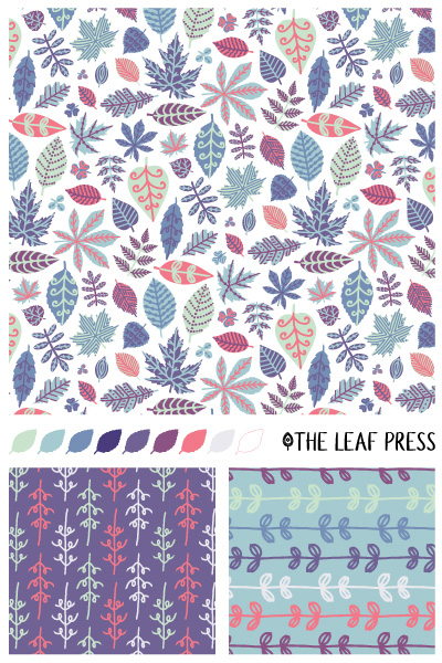 Luscious Leaves surface pattern design