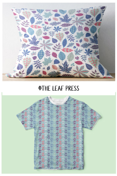 leaf themed surface pattern design
