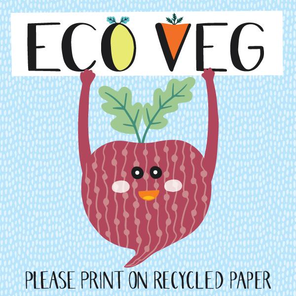 eco veg typography the leaf press