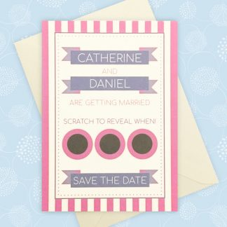 scratch card save the date