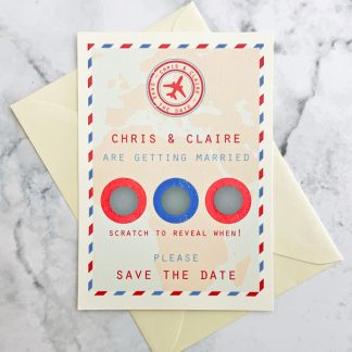 travel themed save the date