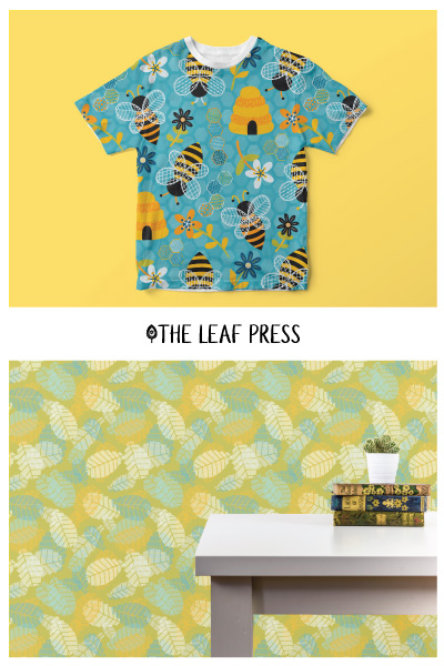 brilliant bees t shirt and wallpaper