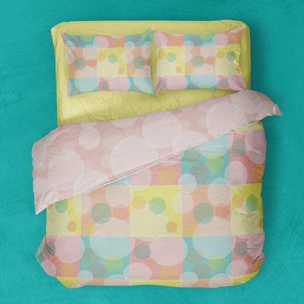 geometric circles bedding