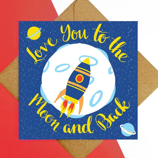 rocket greetings card