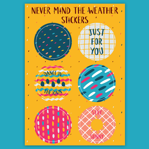 weather gift wrap stickers