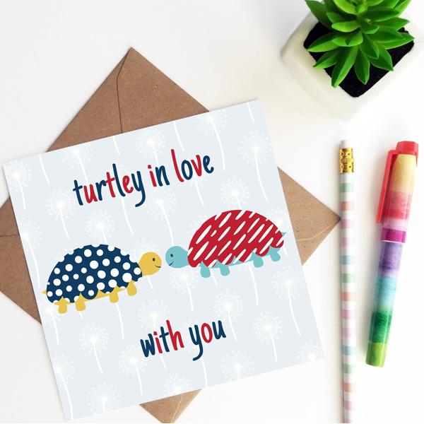 turtle valentines card