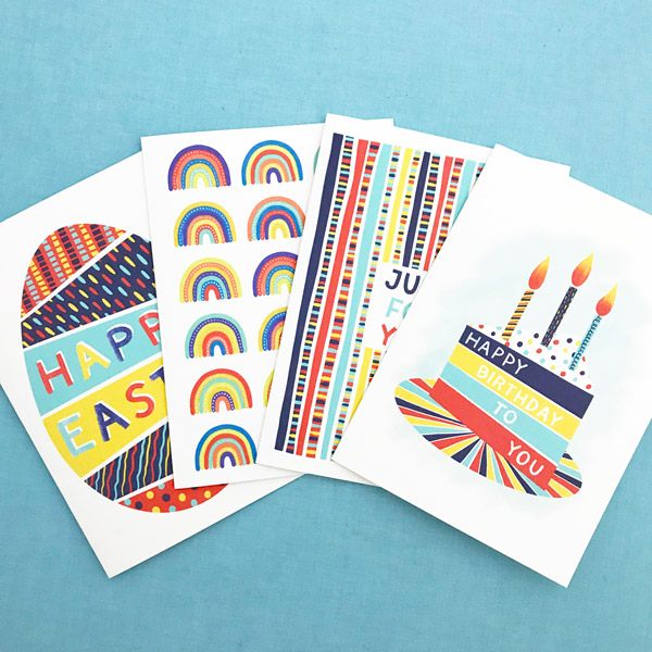 free greetings card with gift orders