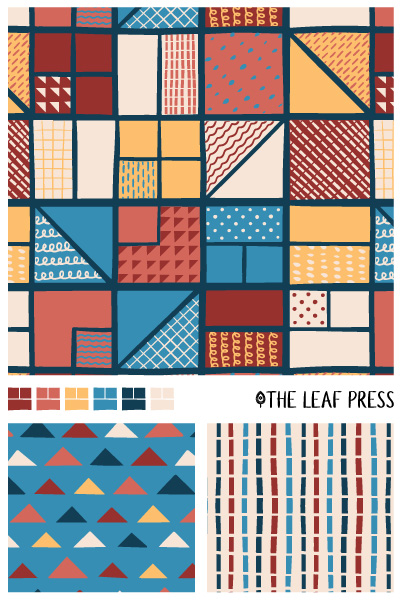 squiggly squares by the leaf press