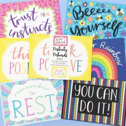 positivity postcards set of six