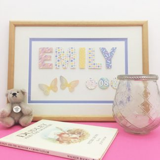 Baby boy or girl name picture butterflies