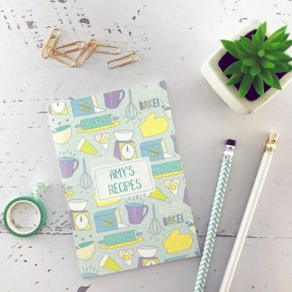 baking recipes notebook personalised