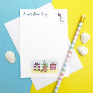 beach hut note cards