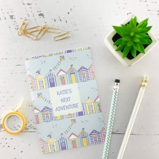beach huts design notebook