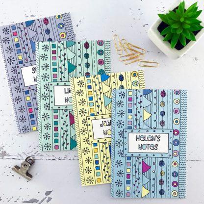 doodles personalised notebook