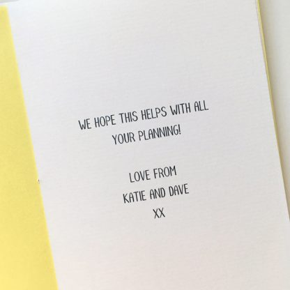 personalised notepad with message