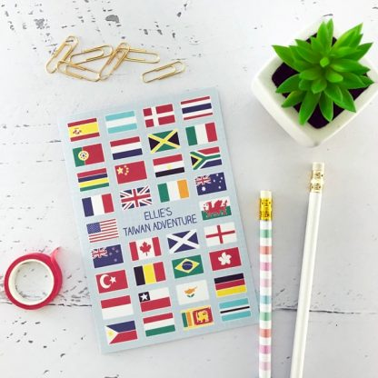 flags design travel notebook