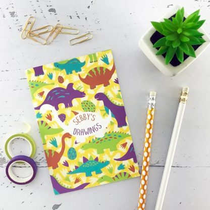 personalised dinosaurs notebook
