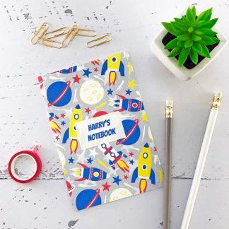 space rockets notebook