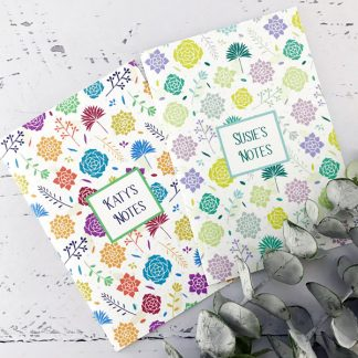 succulents design notebook