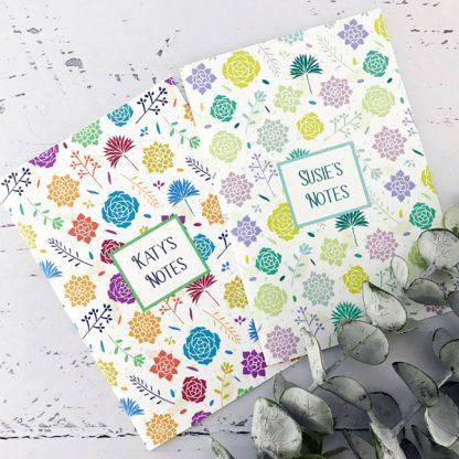 succulents design notebook